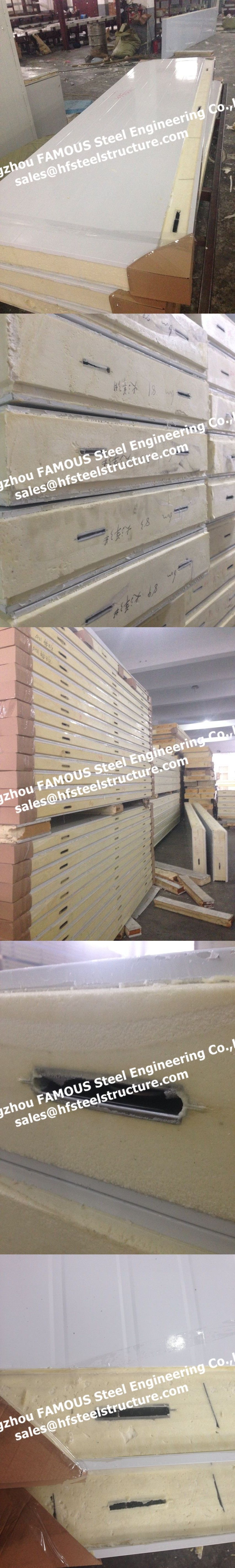 camlock sandwich panel ,cold storage panels ,puf panel for
