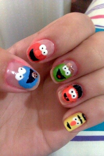 Sesame street nail art b is obsessed with having her nails painted sesame street nail art b is obsessed with having her nails painted if i did prinsesfo Choice Image