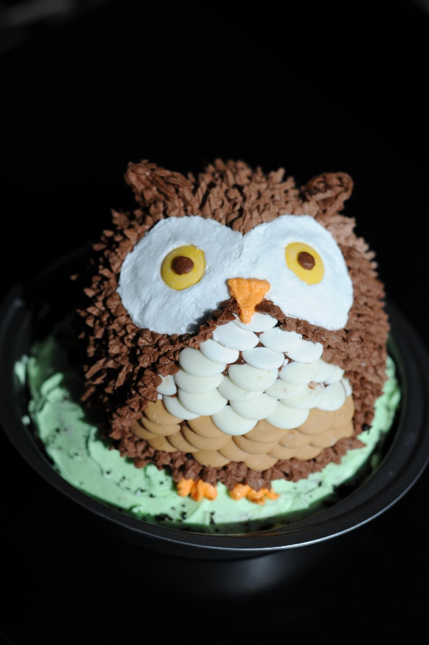 Adorable Owl Cake For Baby Shower