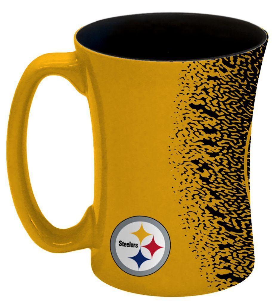 Pittsburgh Steelers Coffee Mug 14oz Mocha Style