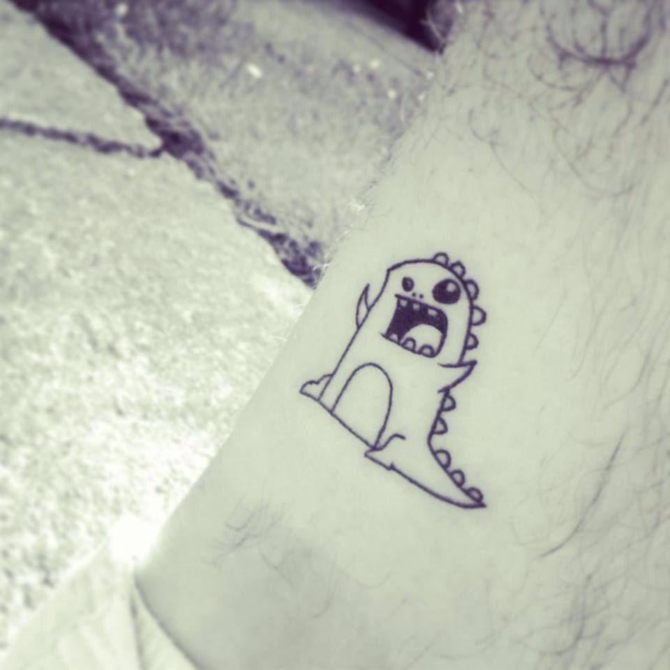 Dinosaur Cartoon Tattoo Cartoon Tattoos Disney Inspired Tattoos Cute Elephant Tattoo