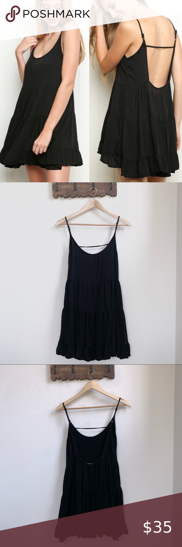 Black Mini Tunic Dress Small