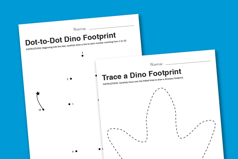 Worksheet Wednesday Dinosaur Footprint