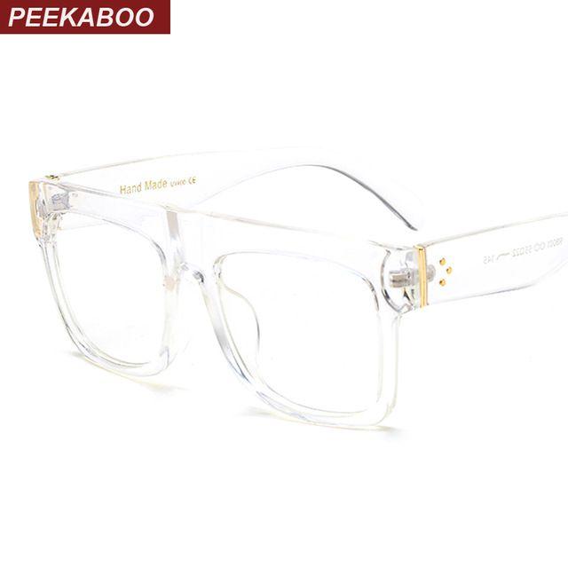 f7743ca91c38 Peekaboo matte black glasses frames for men square clear transparent frame  glasses women brand designer high quality