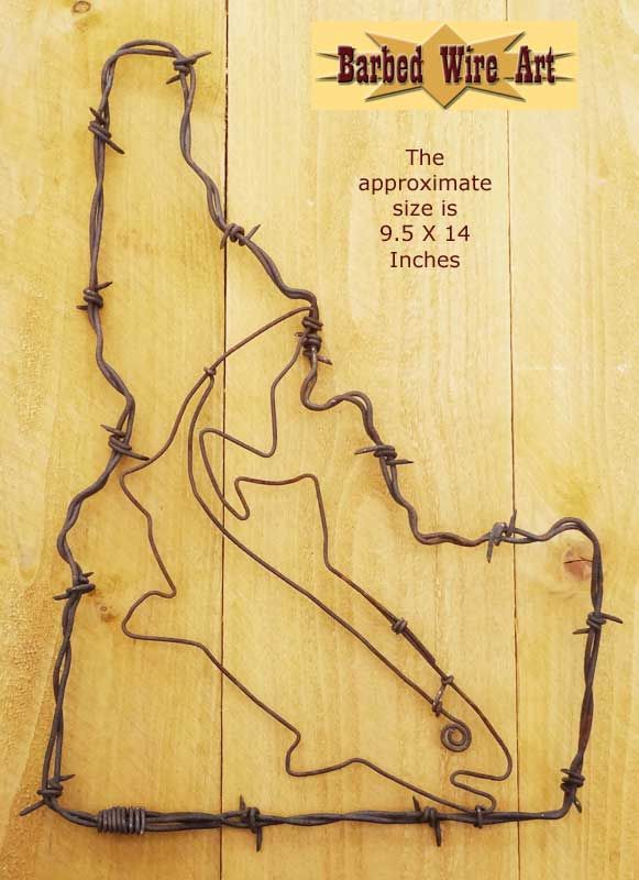 Idaho and Trout ~ Rodeo Wall Hanging Decor | Barbed Wire Art ...