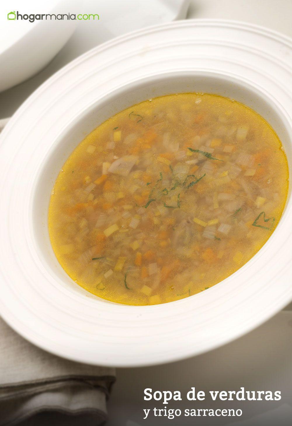 Receta De Sopa De Verduras Y Trigo Sarraceno Karlos Arguiñano Receta Sopa De Verduras Recetas De Sopa Verduras