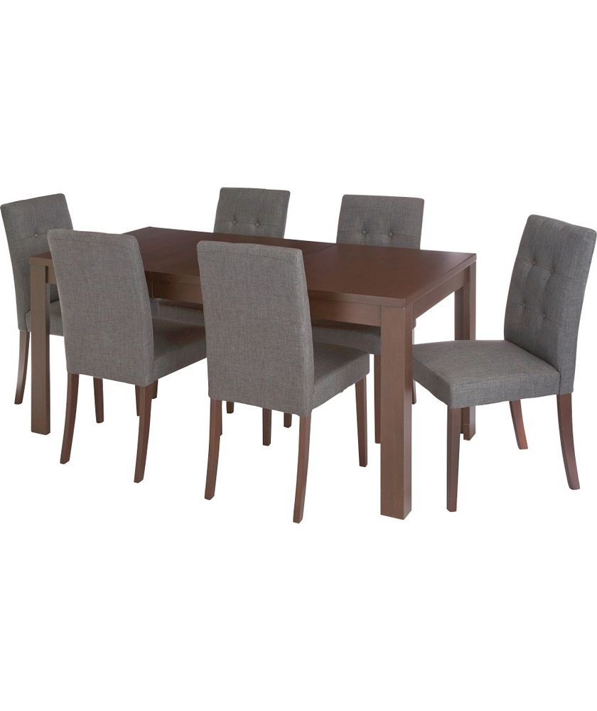 Buy Adaline Walnut Extendable Dining Suite Table And 6 Chairs At