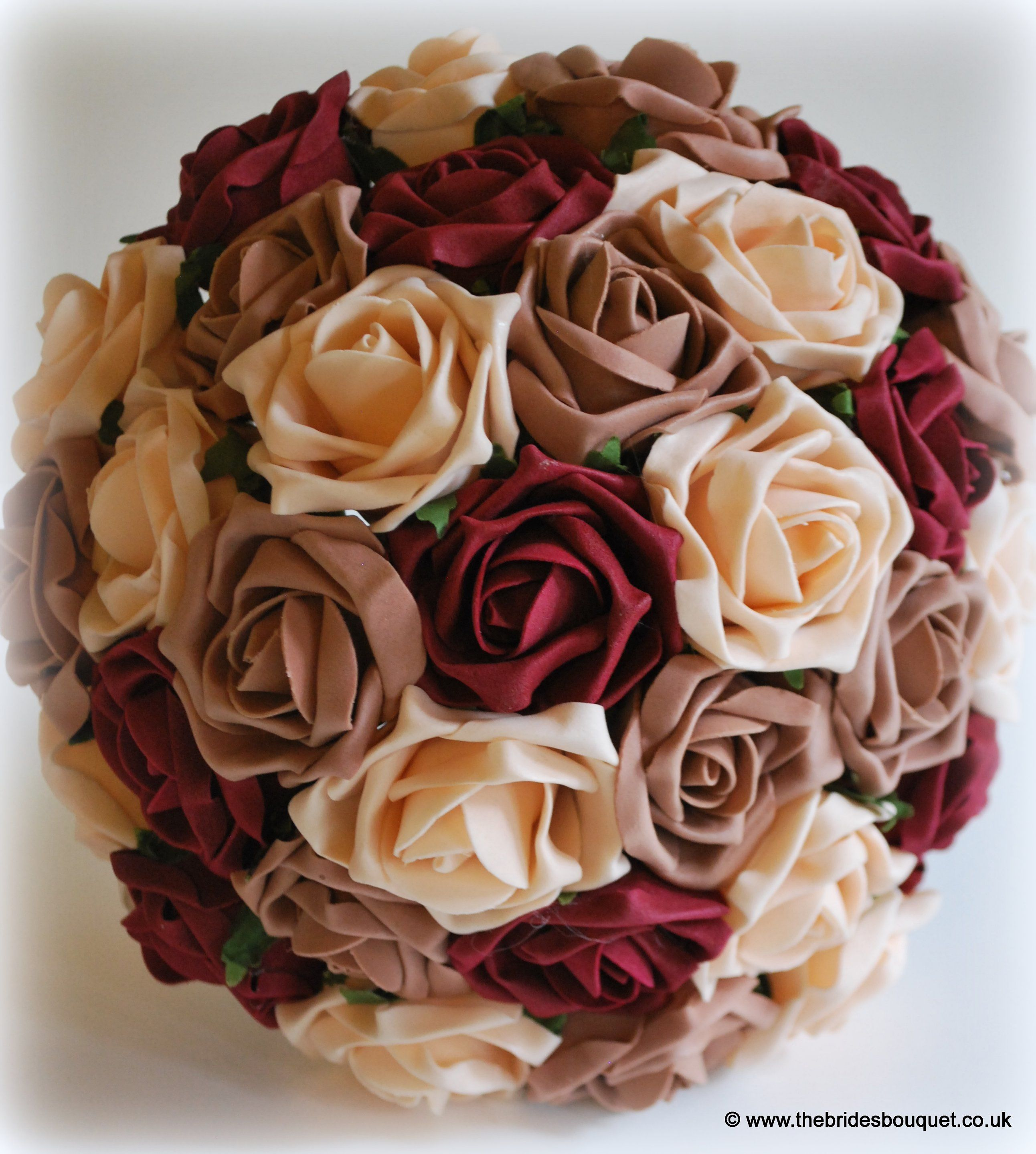 Autumnal Toned Brides Bouquet Of Roses