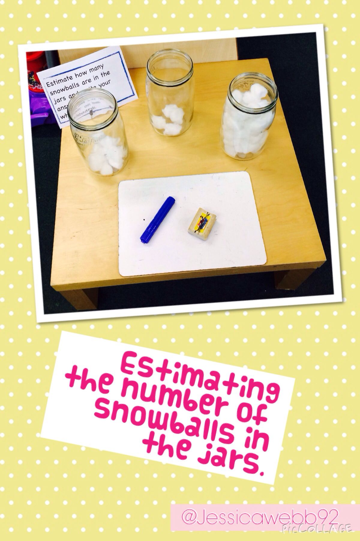 Estimating the number of snowballs in the jars maths cont prov
