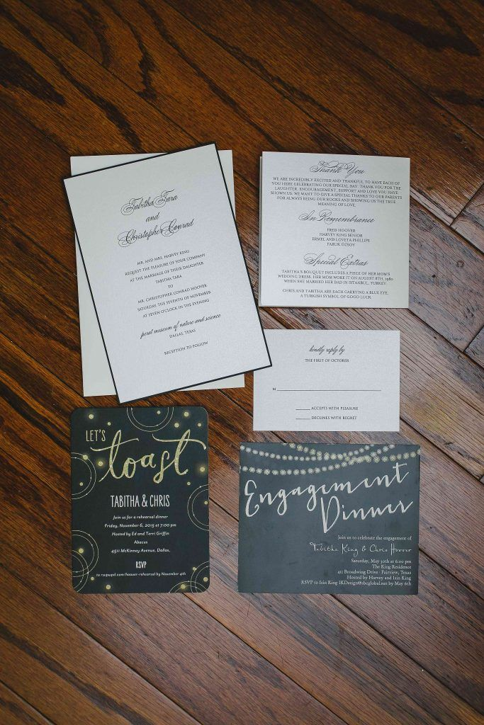 Classic Wedding Invitation Suite For Fall At Perot Museum In Dallas Texas