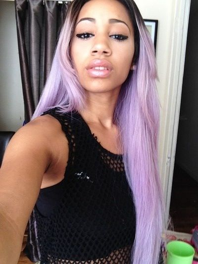black girl with pastel hair hair. happynap