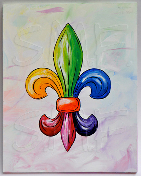 Hey, I found this really awesome Etsy listing at https://www.etsy.com/listing/160586899/fleur-de-lis-painting