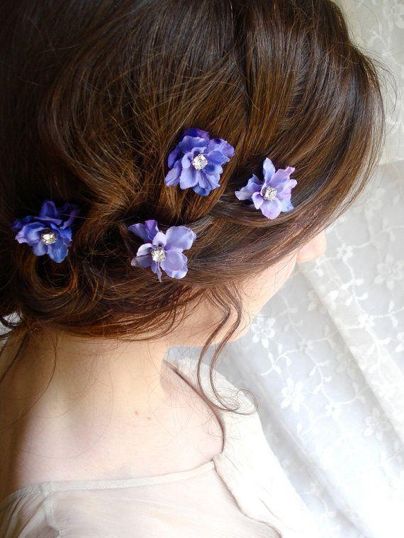 Periwinkle Purple Flower Hair Clips Twinkle Twinkle 4