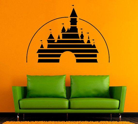 Adesivo murale fatine disney con nome. Castle Wall Sticker Disney Castle Vinyl Decal Disneyland Wall Decals Wall Vinyl Decor 5dxz Decorazioni Disney Arte Per Camere Per Bambini Castelli Disney