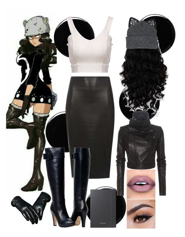 """""""anime 2 inspired outfit"""" by princesscupid98 on Polyvore featuring Deborah Lippmann, Silver Spoon Attire, Dorothy Perkins and Rick Owens"""