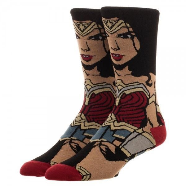 Justice League Wonder Woman Portrait Socks Blue