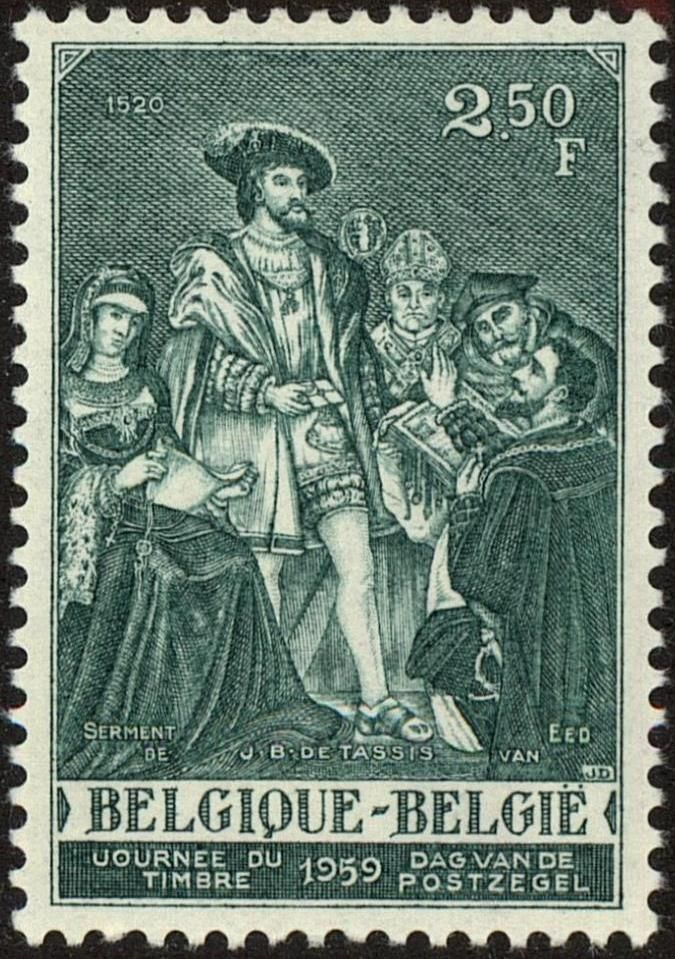 1959 Stamp Day JB De Taxis Taking The Oath At Hands Of Charles V After J E Van Den Bussche Sg1680