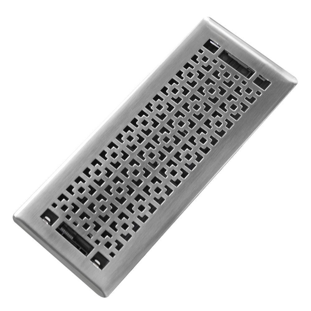 Trademark Tools Mosiac 4 In X 12 In Steel Beveled Edge Floor