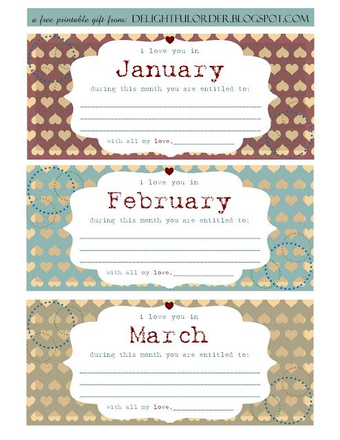 Free Printable Valentines Day Coupon Book
