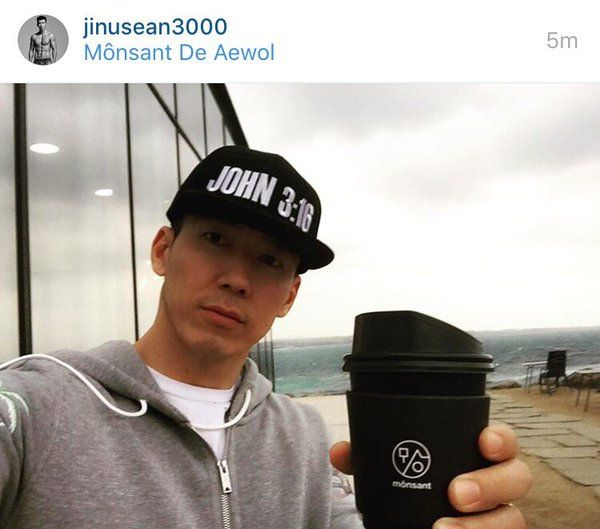 JINUSEAN's Sean at GD's cafe 'Monsant' in Jeju