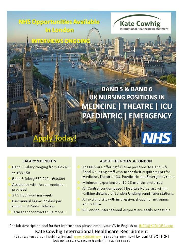 NHS Nursing Jobs in London UK for ICU Theatre
