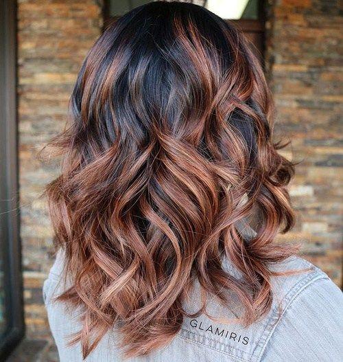 Black Hair With Chocolate Highlights Hair Styles Brunette Hair Color Dark Hair With Highlights