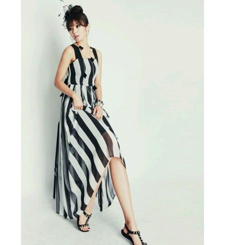 f9f6086c925a Infinity Store s Striped Maxi Dress - Buy Infinity Store s Striped Maxi  Dress Online India at Best Prices - Kraftly.com