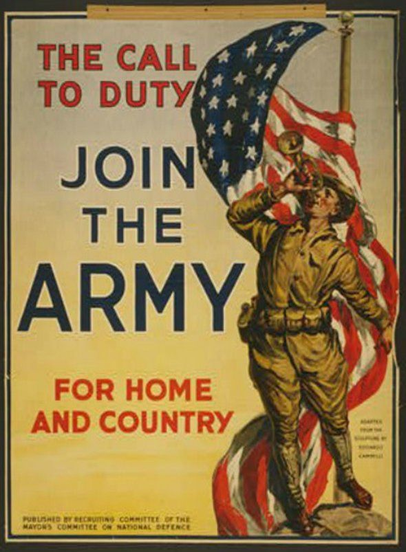 The World War I posters were a call to duty