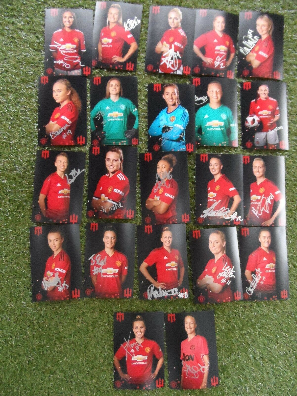 Manchester United Women Hand Signed 2018 2019 Individual Photos 22 Autographs Ebay Manchester United Manchester United Players Manchester