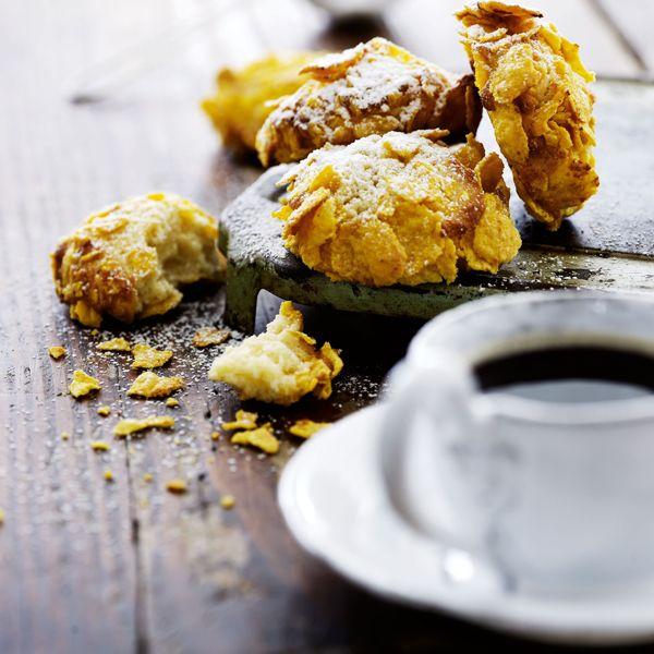 Småkaker med mascarpone og cornflakes