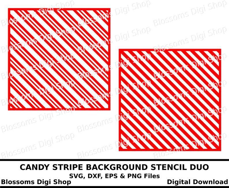 Candy stripe background stencil duo, digital download