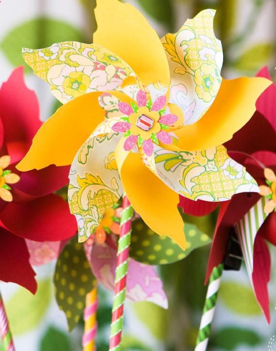 Flower Pinwheel Pattern Spring Celebrations Diy