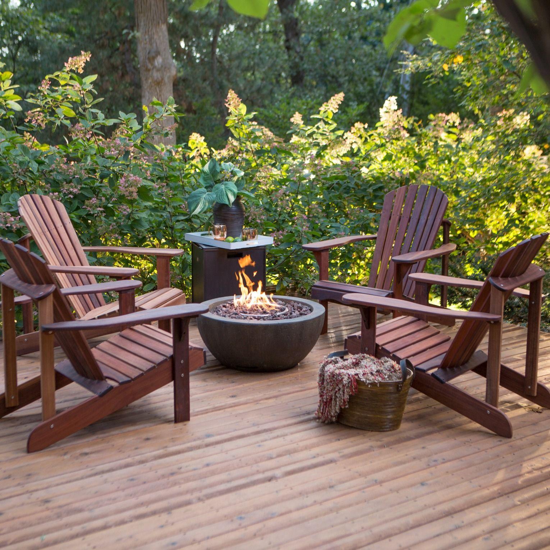 Adirondack chair set | Patio Ideas + Inspiration | Pinterest ...