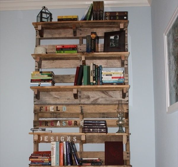 diy pallet bookshelf plans or instructions wooden With homemade furniture instructions