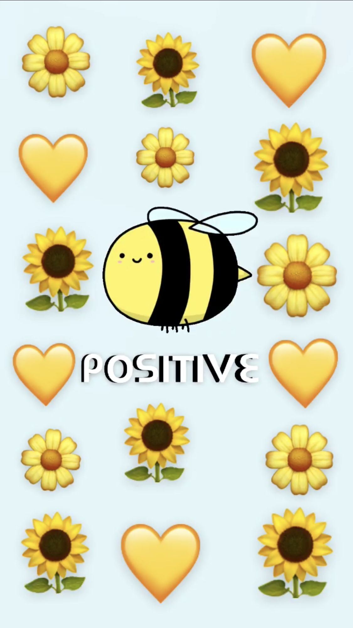 Bee postive background in 2020 Iphone background, Cute
