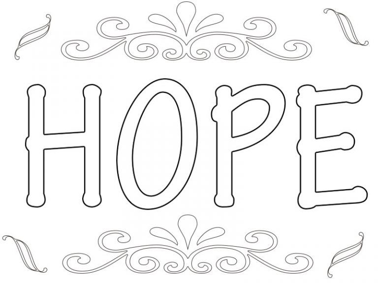 Printable Hope Coloring Pages Quote Coloring Pages Sunday School Coloring Pages Words Coloring Book