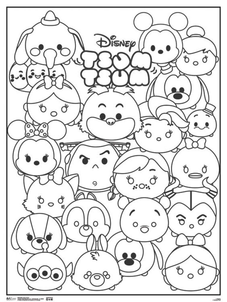 Image Result For Tsum Tsum Coloring Pages