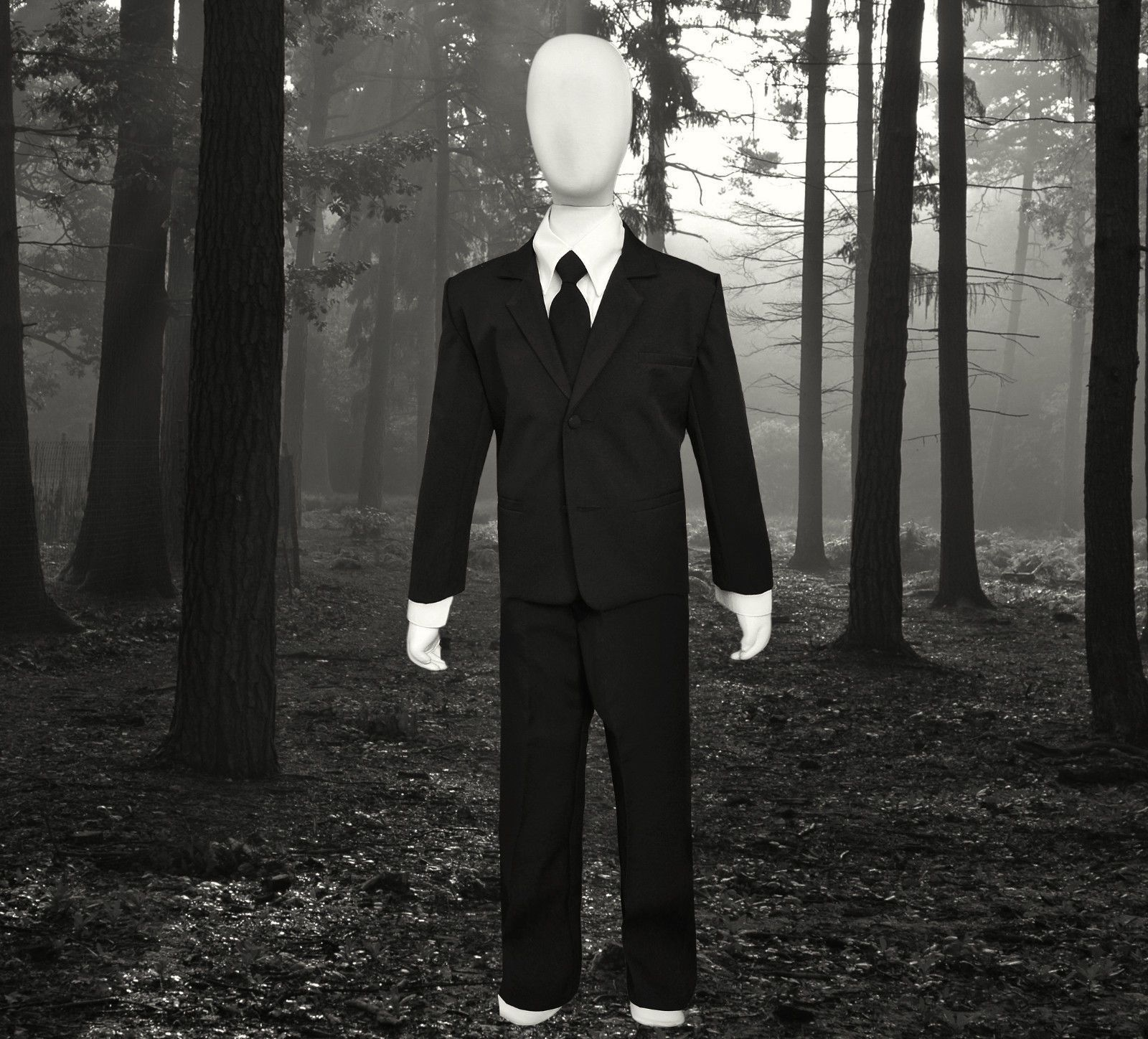 Boys Slenderman Costume Suit. For Halloween Kids of All ages. Suit Only No Mask & Boys Slenderman Costume Suit. For Halloween Kids of All ages. Suit ...