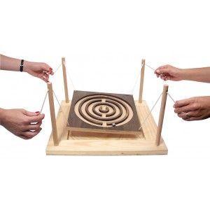 Labyrinthe géant en bois à 4 mains: #games