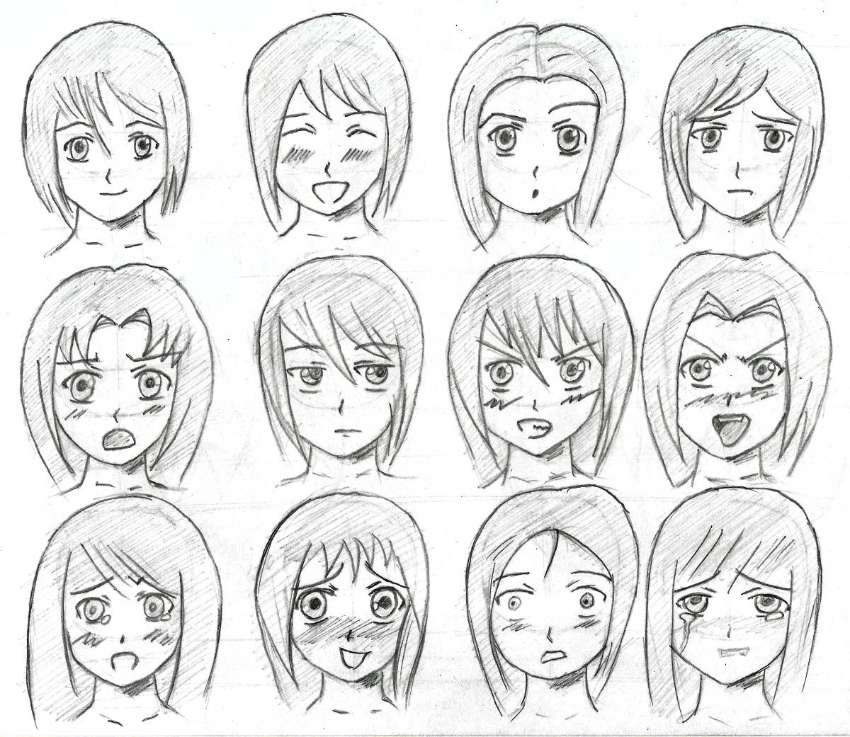 1200x1041 Anime facial expressions by tulvit on DeviantArt