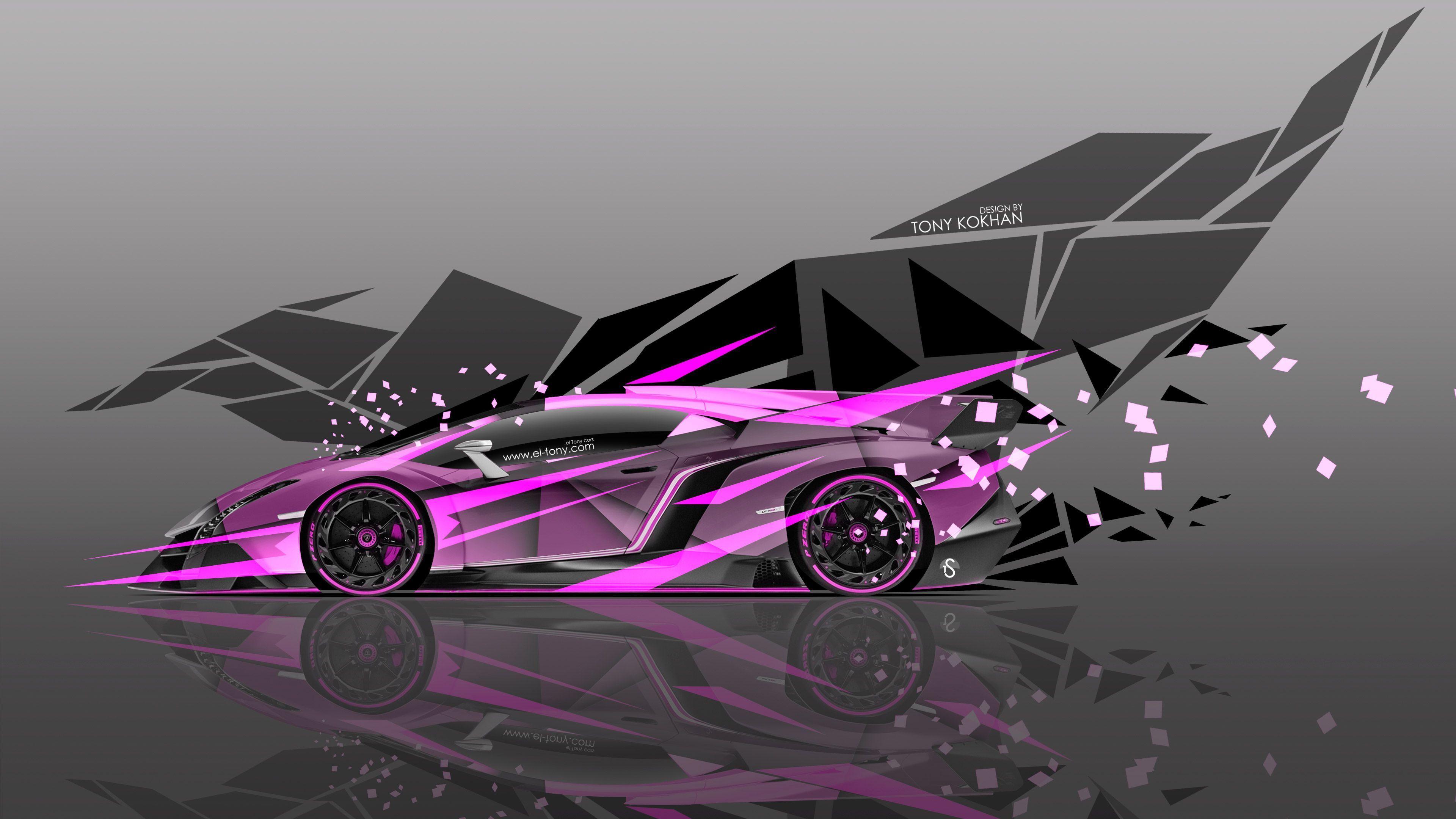 4K Lamborghini Veneno Side Super Abstract Car 2015 « El Tony