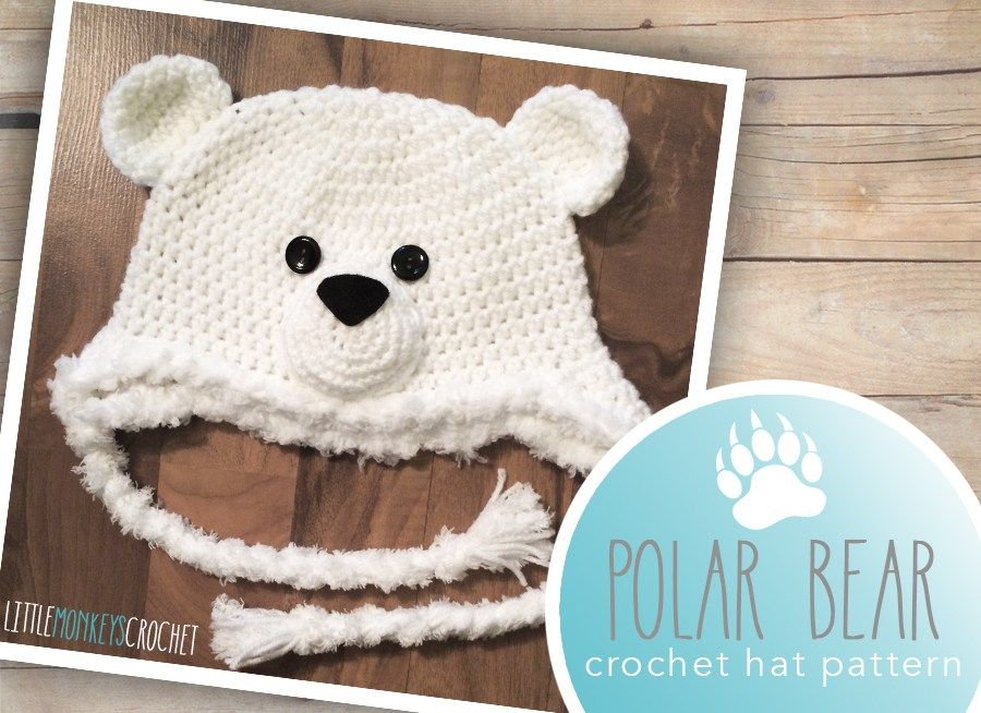 Polar Bear Hat (free 6-12m pattern) | Gorros crochet, Gorros y Osos
