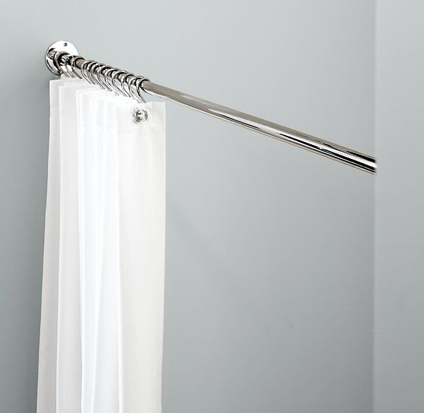 Straight Shower Rod - Fixed, Polished Chrome | Restoration ...