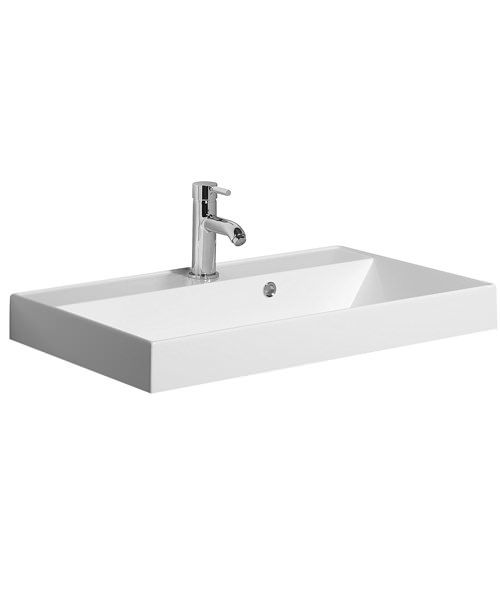 Bauhaus Glide Cast Mineral Marble Basin With Overflow