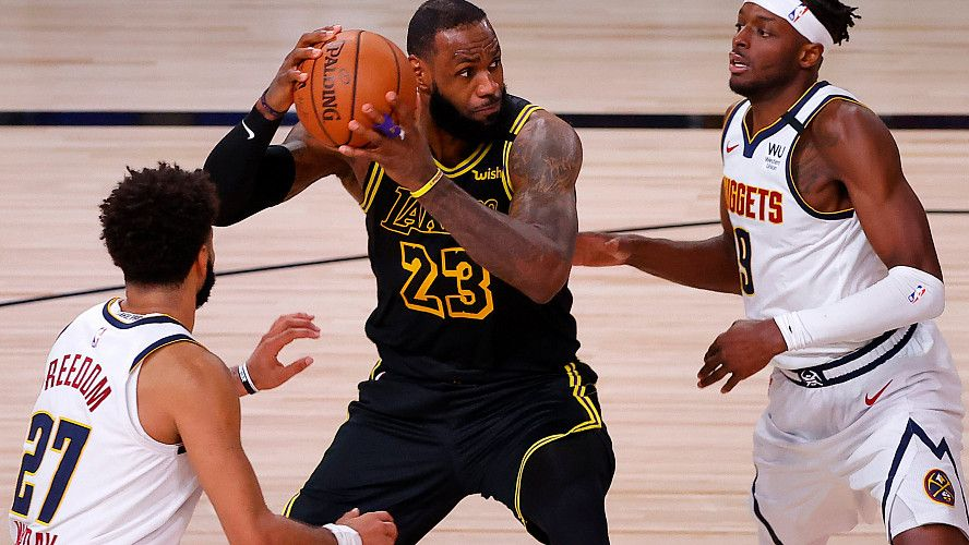 Dzhejms Effektno Otvetil Kovingtonu Na Ego Oskorbleniya In 2020 Lakers Vs Lakers Vs Nuggets Nba