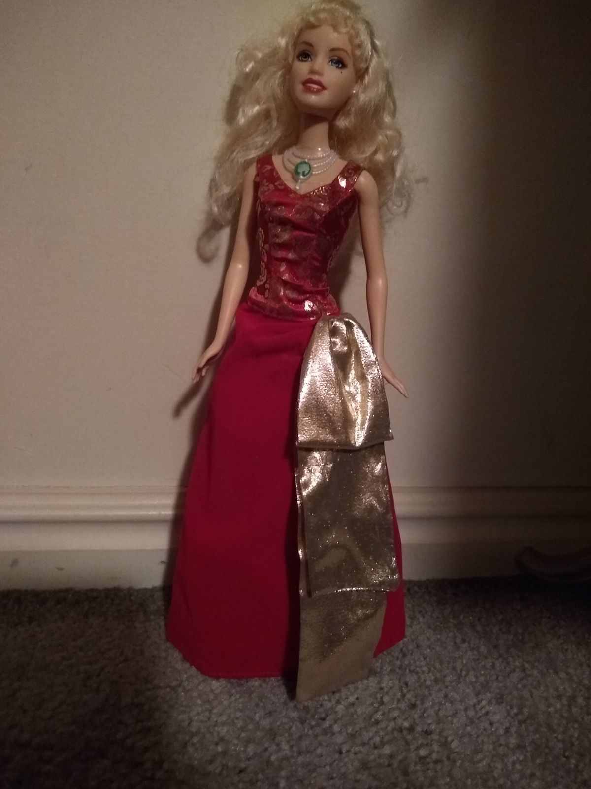 Barbie in a Christmas Carol Doll lightly played with