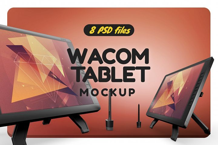 Wacom Graphic Screen Tablet Mock Up With Images Wacom Mockup Showcase Design