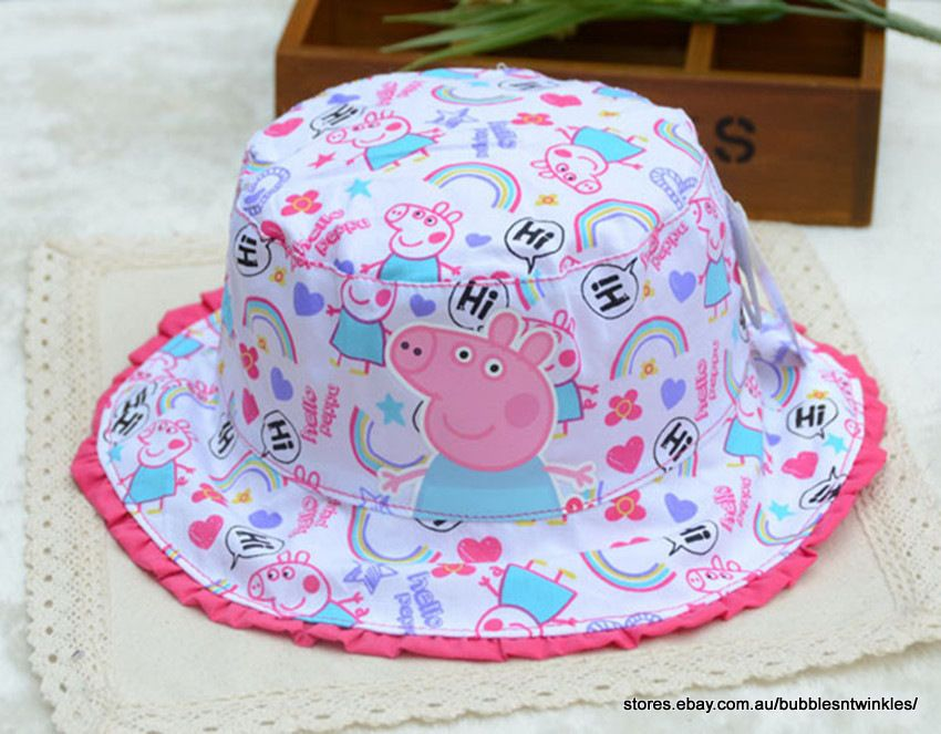 6c7aec9f45b0e PEPPA PIG BUCKET HAT Kids Toddler 2 Sizes 51-52cm or 53-54cm Cute Design