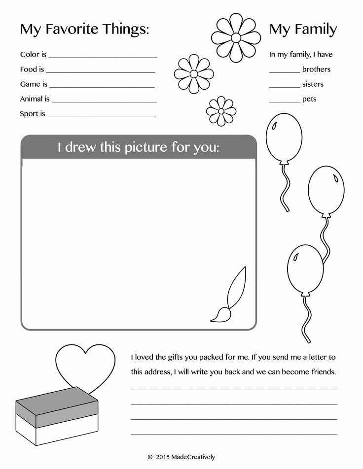 Operation Christmas Child Coloring Page Lovely About Me ...