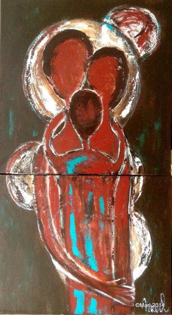 Kom binnen in de Kunstgalerie van Marl.Decoratieve schilderijen: 14-174 Togetherness